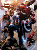 Avengers: The Childrens Crusade No.4: Captain America, Ms. Marvel, Iron Man, Spider-Man and Others Wall Decal by Jim Cheung