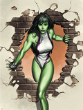 She-Hulk No.1 Cover: She-Hulk Plastic Sign by Adi Granov