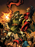 The Mighty Avengers 9 Cover: Dr. Doom and Spider Woman Plastic Sign by Mark Bagley