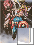 Avengers No.99 Annual: Captain America, Iron Man, Wasp and Avengers Wood Print by Leonardo Manco