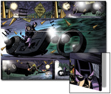 Avengers: Solo No.4: Hawkeye Riding a Motorcycle Art by Roger Robinson