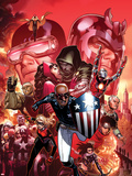 Avengers: The Childrens Crusade No.9 Cover: Patriot, Dr. Doom, Cyclops, Magneto, and Others Plastic Sign by Jim Cheung