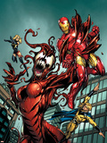 The Mighty Avengers 8 Cover: Iron Man and Sentry Plastic Sign by Mark Bagley
