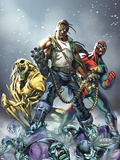 Avengers: The Initiative No.16 Cover: 3-D Man, Ryder and Riot Plastic Sign by Mark Brooks
