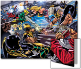 Avengers/Invaders No.4 Group: Wolverine, Ares, Ms. Marvel, Cage and Luke Poster by Steve Sadowski