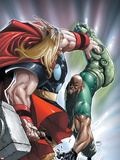 Avengers: The Initiative No.22 Cover: Thor and Gauntlet Plastic Sign by Humberto Ramos