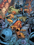 Avengers: The Initiative No.26 Group: Tigra, Ultragirl, Gauntlet and Justice Jumping Plastic Sign by Rafa Sandoval