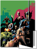Marvel Adventures Avengers No.10 Cover: Captain America Prints by Stewart Cameron