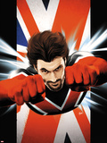 Ultimate Comics Ultimates No.6 Cover: Captain Britain Flying Plastic Sign by Kaare Andrews