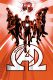 New Avengers 6 Cover: Iron Man, Black Panther, Dr. Strange, Namor, Beast, Black Bolt Plastic Sign by  Jock