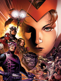 Avengers: The Childrens Crusade No.6 Cover: Scarlet Witch, Hawkeye, Beast, Spider-Man, and Others Plastic Sign by Jim Cheung
