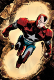 Secret Avengers 3 Cover: Iron Patriot Plastic Sign by Tomm Coker
