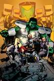 Secret Avengers 7 Cover: Nick Fury, Black Widow, Hawkeye, Mockingbird, Hulk, A.I.M. Plastic Sign by Tomm Coker