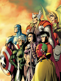 I Am an Avenger No.5 Cover: Ant-Man, Vision, Hawkeye, Wiccan, Speed, Captain America and Others Wall Decal by Alan Davis