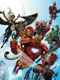 Marvel Adventures The Avengers No.38 Cover: Iron Man Plastic Sign by Casey Jones