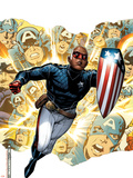 Young Avengers Presents No.1 Cover: Patriot Plastic Sign by Jim Cheung