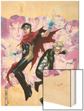 Young Avengers Presents No.3 Cover: Wiccan and Speed Wood Print by Jim Cheung