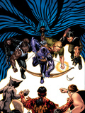 House Of M: Avengers No.5 Cover: Hawkeye, Cage, Luke, Iron Fist and Cloak Wall Decal by Mike Perkins