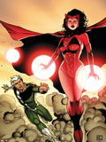The Mighty Avengers No.24 Cover: Scarlet Witch and Quicksilver Wall Decal by Khoi Pham