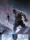 Ultimate Comics Ultimates No.8: Mr. Fantastic and Hulk Print by Esad Ribic