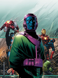Young Avengers No.4 Cover: Kang, Marvel Comics and Fantastic Four Plastic Sign by Jim Cheung