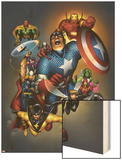 The Official Handbook Of The Marvel Universe: Avengers 2004 Cover: Captain America Art by Salvador Larroca