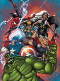 Marvel Adventures The Avengers No.36 Cover: Hulk Plastic Sign by Ig Guara
