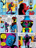 Giant-Size Avengers/Invaders No.1 Headshot: Kang Plastic Sign by Sal Buscema