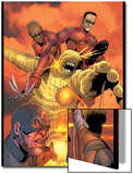 Ultimates Annual No.1 Group: Goliath, Hawkeye, Wasp, Captain America and Ultimates Charging Prints by Steve Dillon