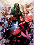 Avengers: The Childrens Crusade No.4 Cover: Scarlet Witch, Wiccan, and Dr. Doom Wall Decal by Jim Cheung