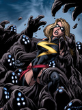 The Mighty Avengers No.11 Cover: Ms. Marvel Plastic Sign by Mark Bagley