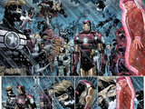 Avengers No.9: Panels with Steve Rogers, Thor, Wolverine, Iron Man, Mr. Fantastic and Others Prints by John Romita Jr.