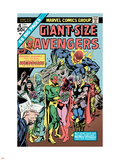 Giant-Size Avengers No.4 Cover: Vision, Scarlet Witch, Thor, Iron Man and Dormammu Plastic Sign by Don Heck