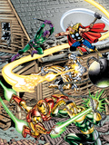 Avengers No.16 Cover: Thor, Iron Man, Firestar, Thunderball, Bulldozer, Avengers and Wrecking Crew Wall Decal by Jerry Ordway