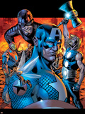 Ultimates No.13 Cover: Wasp, Captain America, Thor, Giant Man, Iron Man and Ultimates Plastic Sign by Bryan Hitch