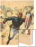 Young Avengers Presents No.1 Cover: Patriot Wood Print by Jim Cheung