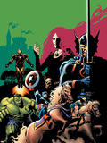 Marvel Adventures Avengers No.10 Cover: Captain America Wall Decal by Stewart Cameron
