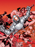 Avengers No.22 Cover: Ultron and Avengers Plastic Sign by George Perez
