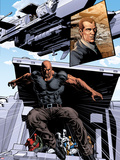 New Avengers No.20: Luke Cage Jumping Plastic Sign by Mike Deodato