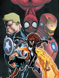 Avengers Academy Giant-Size No.1 Cover: Spider-Girl, Firestar, Reptil, Iron Man and Others Wall Decal by Ed McGuinness