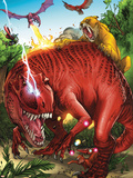 Lockjaw and the Pet Avengers No.2 Group: Devil Dinosaur, Zabu, Red Wing and Lockheed Plastic Sign by Ig Guara