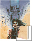 New Avengers No.39 Cover: Echo and Wolverine Wood Print by David Mack