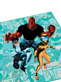 Avengers Academy No.3 Cover: Finesse, Mettle, and Hazmat Plastic Sign by Mike McKone