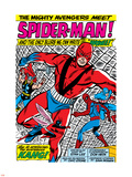 Avengers Classic No.11 Group: Spider-Man, Giant Man and Wasp Plastic Sign by Don Heck