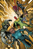 Avengers A.I. 1 Cover: Alexis, Vision, Doombot, Chang, Monica, Pym, Hank, Mancha, Victor Plastic Sign by Dustin Weaver