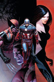 Avengers 10 Cover: Captain America, Wolverine, Validator, Michaud, Robert Plastic Sign by Dustin Weaver