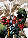 Avengers Academy No.12 Cover: Striker, Veil, Hazmat, Finesse, Mettle, and Reptil Plastic Sign by Mike McKone