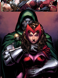 Avengers: The Childrens Crusade No.2: Dr. Doom and Scarlet Witch Standing Wall Decal by Jim Cheung