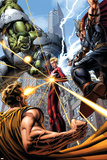 Avengers 9 Cover: Hulk, Thor, Star Brand, Hyperion Plastic Sign by Dustin Weaver