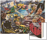 Avengers/Invaders No.4 Group: Wolverine, Ares, Ms. Marvel, Cage and Luke Wood Print by Steve Sadowski